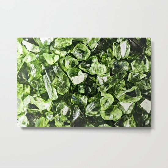 Vibrant greenery crystal rocks Metal Print