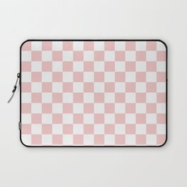 Gingham Pink Blush Rose Quartz Checked Pattern Laptop Sleeve