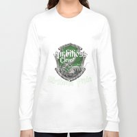 slytherin Long Sleeve T-shirts featuring Slytherin Pride by iiNTRIGUE