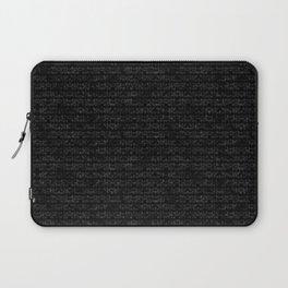 Black Dna Data Code Laptop Sleeve