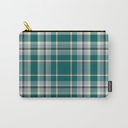 Turquoise Seamless Tartan Plaid Pattern  Carry-All Pouch