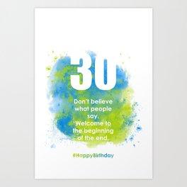 AgeIsJustANumber-30-SkyTreeA Art Print