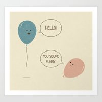 balloons Art Prints featuring Balloons by Teo Zirinis