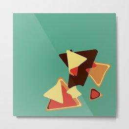 Green Plus Triangles Metal Print
