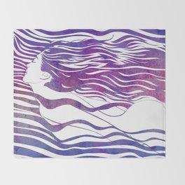 Water Nymph VI Throw Blanket