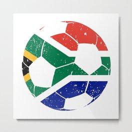 South Africa Soccer  TShirt Football Shirt Football Player Gift Idea Metal Print