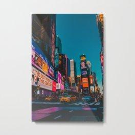 City Lights NYC (Color) Metal Print