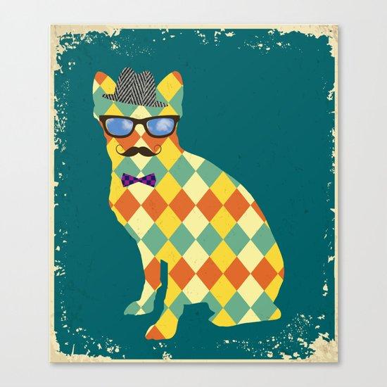 Argyle Terrier  Canvas Print