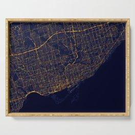 Toronto, Canada - City At Night Serving Tray