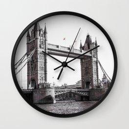 London Bridge Black & White Wall Clock