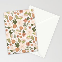Pink floral pattern Stationery Cards