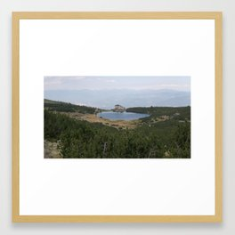 Hut in the mountain Framed Art Print