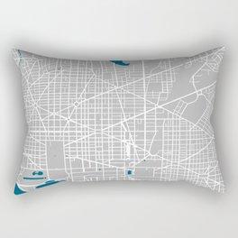 Washington DC city map grey colour Rectangular Pillow