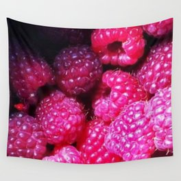 Summer with Raspberries Wall Tapestry