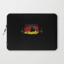 Biker Design With Germany Flag Laptop Sleeve