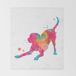 Colorful Playful Labrador Throw Blanket