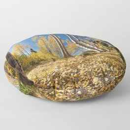 Crested Butte Colorado Fall Colors Panorama - 3 by OLena Art Floor Pillow
