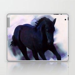 A Friesian foal's morning joy Laptop & iPad Skin