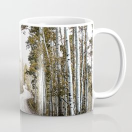 A Winding Autumn Road Coffee Mug