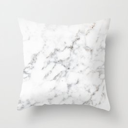 Faux White Marble Texture Look-like (NOTICE: Not Real Marble) Throw Pillow