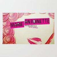 marie antoinette Area & Throw Rugs featuring Marie Antoinette by Linda Hordijk