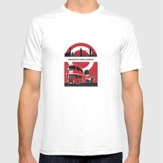 Greetings from London MEDIUM White Mens Fitted Tee