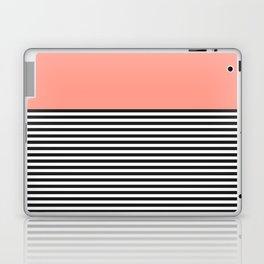 STRIPE COLORBLOCK {CORAL} Laptop & iPad Skin