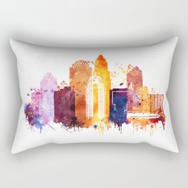 Charlotte Skyline, Skyline Print. North Carolina Landscape Poster Rectangular Pillow