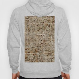 Las Vegas City Street Map Hoody