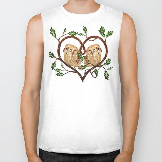 owl love Biker Tank