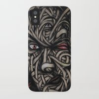 faces iPhone & iPod Cases featuring Faces by Suave-O