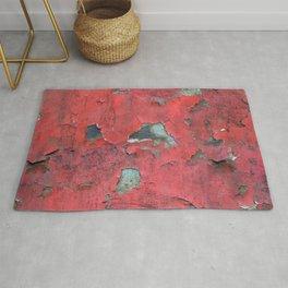 Rust, retro metal texture Rug