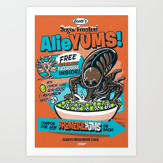 AlieYUMS! (orange variant) Art Print