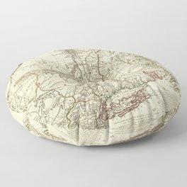 American Revolutionary War Map (1782) Floor Pillow