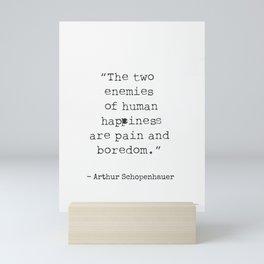 German philosopher Arthur Schopenhauer Mini Art Print