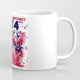 Star Studded Uncle Sam's Birthday 4th July Coffee Mug