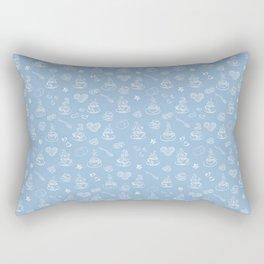 Tea time airy blue Rectangular Pillow