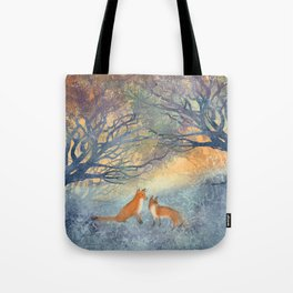 The Two Foxes Tote Bag