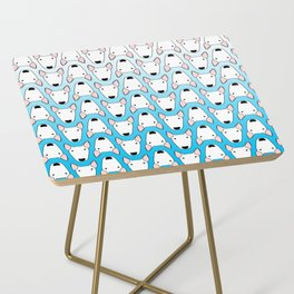 small gridlock duffle blue gradient Side Table
