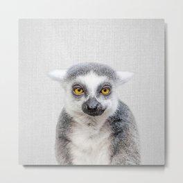 Lemur - Colorful Metal Print