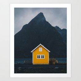 Yellow hut Art Print
