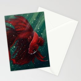 Fighter Fish Stationery Cards
