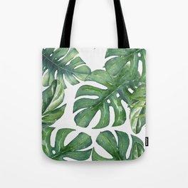 Monstera Leaves Tote Bag