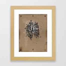 """Portland Parliament on Parchment"" Framed Art Print"