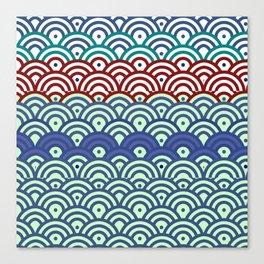 Art Deco Seigaiha 2 Canvas Print