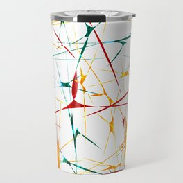 Colorful Splatter Abstract Shapes Travel Mug