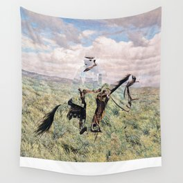 The Unknown Rider in Death Rides The Pecos Wall Tapestry
