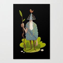 Woodsman (black background) Canvas Print