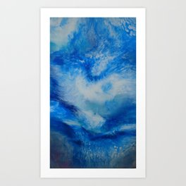 And the Heavens Opened up for Michael Art Print
