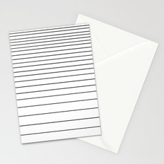 black on white stripes Stationery Cards